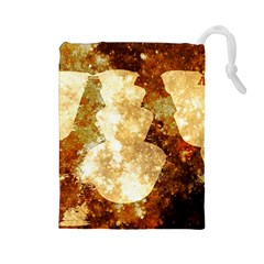 Sparkling Lights Drawstring Pouches (large)
