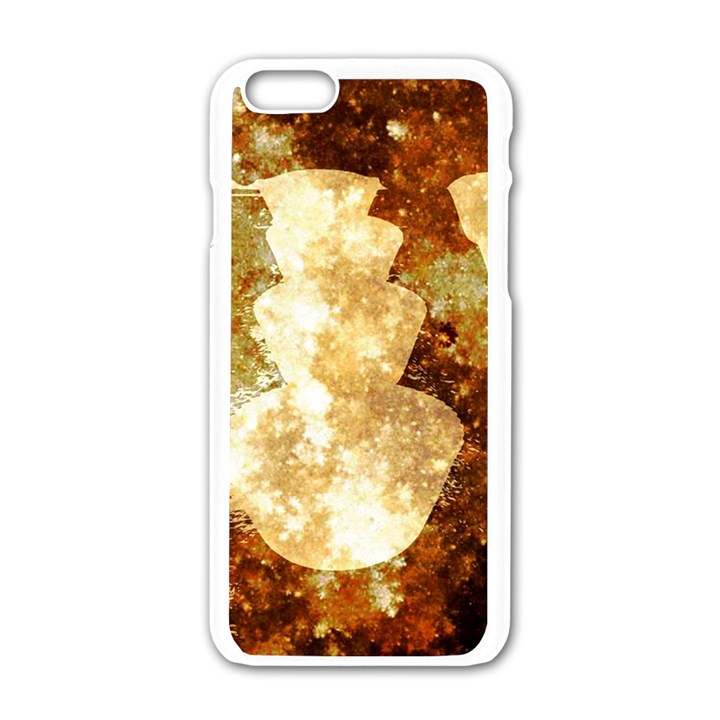 Sparkling Lights Apple iPhone 6/6S White Enamel Case
