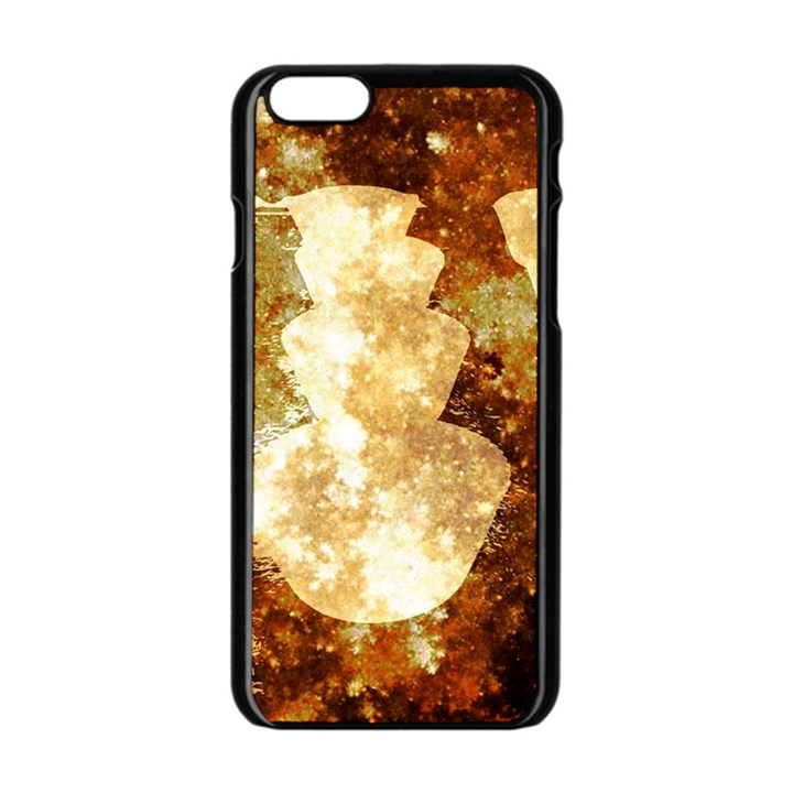 Sparkling Lights Apple iPhone 6/6S Black Enamel Case