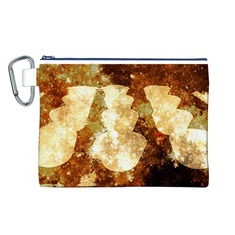Sparkling Lights Canvas Cosmetic Bag (L)