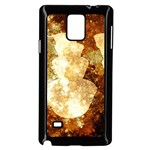 Sparkling Lights Samsung Galaxy Note 4 Case (Black) Front
