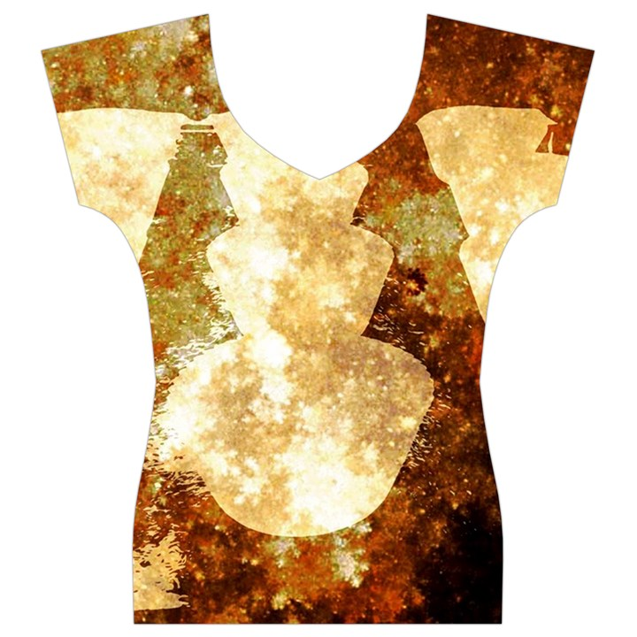 Sparkling Lights Women s V-Neck Cap Sleeve Top