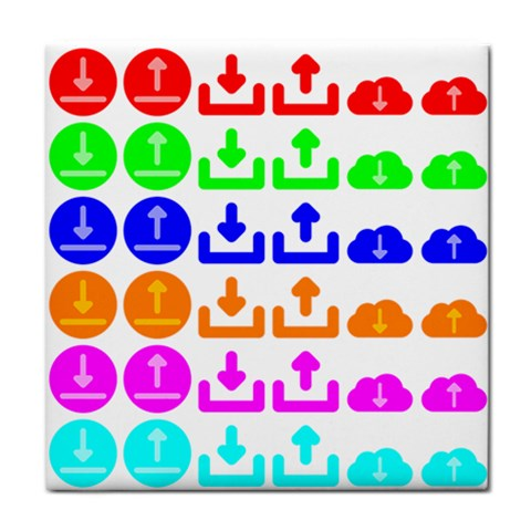 Download Upload Web Icon Internet Tile Coasters