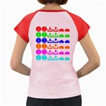 Download Upload Web Icon Internet Women s Cap Sleeve T-Shirt Back