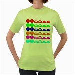 Download Upload Web Icon Internet Women s Green T-Shirt Front