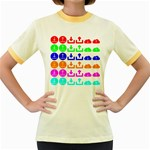 Download Upload Web Icon Internet Women s Fitted Ringer T-Shirts Front