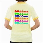 Download Upload Web Icon Internet Women s Fitted Ringer T-Shirts Back
