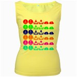 Download Upload Web Icon Internet Women s Yellow Tank Top Front
