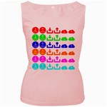 Download Upload Web Icon Internet Women s Pink Tank Top Front