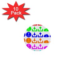 Download Upload Web Icon Internet 1  Mini Buttons (10 pack)