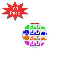 Download Upload Web Icon Internet 1  Mini Buttons (100 pack)