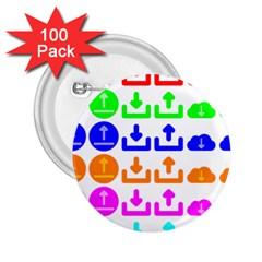 Download Upload Web Icon Internet 2.25  Buttons (100 pack)
