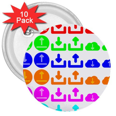 Download Upload Web Icon Internet 3  Buttons (10 pack)