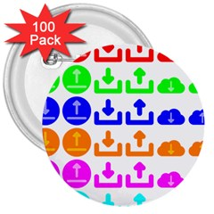 Download Upload Web Icon Internet 3  Buttons (100 pack)
