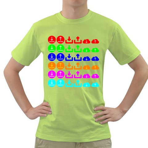 Download Upload Web Icon Internet Green T-Shirt