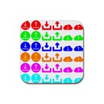 Download Upload Web Icon Internet Rubber Square Coaster (4 pack)  Front