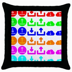 Download Upload Web Icon Internet Throw Pillow Case (Black)