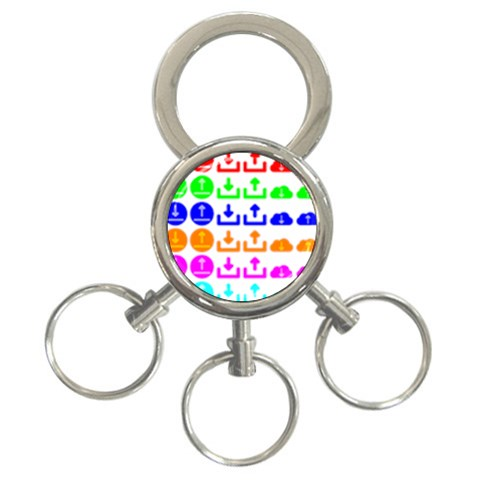 Download Upload Web Icon Internet 3-Ring Key Chains