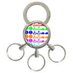 Download Upload Web Icon Internet 3-Ring Key Chains Front