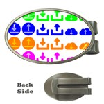 Download Upload Web Icon Internet Money Clips (Oval)  Front