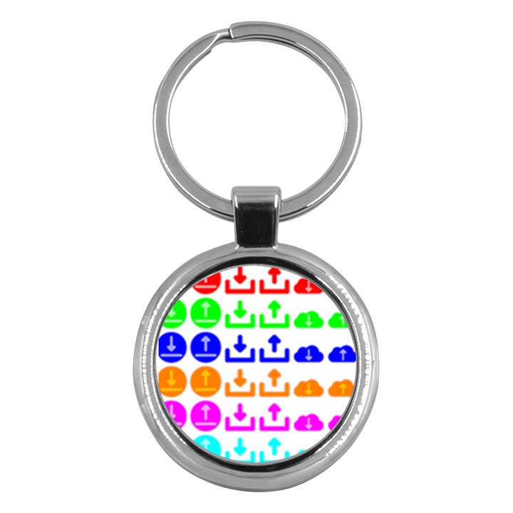 Download Upload Web Icon Internet Key Chains (Round)