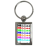 Download Upload Web Icon Internet Key Chains (Rectangle)  Front