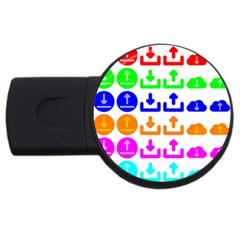 Download Upload Web Icon Internet USB Flash Drive Round (2 GB)