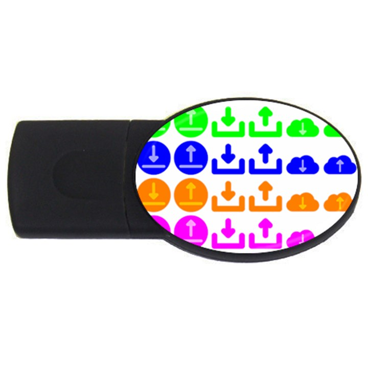 Download Upload Web Icon Internet USB Flash Drive Oval (2 GB)