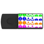 Download Upload Web Icon Internet USB Flash Drive Rectangular (2 GB)  Front