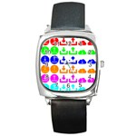Download Upload Web Icon Internet Square Metal Watch Front