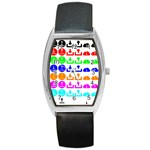 Download Upload Web Icon Internet Barrel Style Metal Watch Front