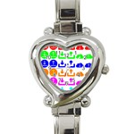 Download Upload Web Icon Internet Heart Italian Charm Watch Front