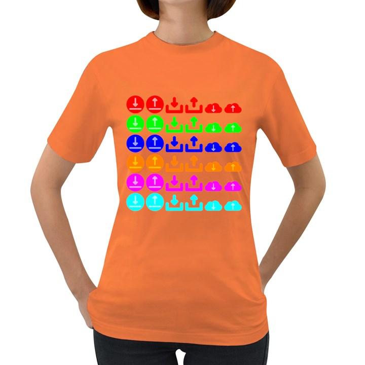 Download Upload Web Icon Internet Women s Dark T-Shirt