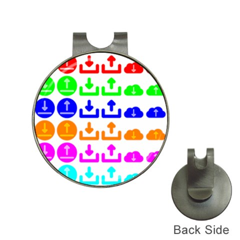 Download Upload Web Icon Internet Hat Clips with Golf Markers