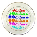 Download Upload Web Icon Internet Porcelain Plates Front