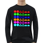 Download Upload Web Icon Internet Long Sleeve Dark T-Shirts Front