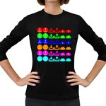 Download Upload Web Icon Internet Women s Long Sleeve Dark T-Shirts Front
