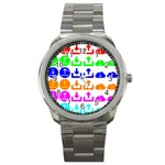 Download Upload Web Icon Internet Sport Metal Watch Front