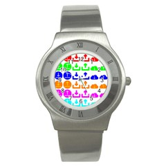 Download Upload Web Icon Internet Stainless Steel Watch