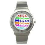 Download Upload Web Icon Internet Stainless Steel Watch Front