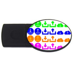 Download Upload Web Icon Internet USB Flash Drive Oval (4 GB)