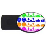 Download Upload Web Icon Internet USB Flash Drive Oval (4 GB)  Front