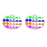 Download Upload Web Icon Internet Cufflinks (Oval) Front