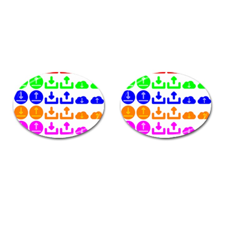 Download Upload Web Icon Internet Cufflinks (Oval)