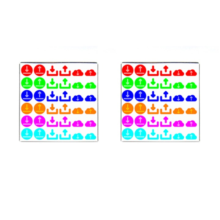 Download Upload Web Icon Internet Cufflinks (Square)