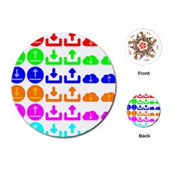 Download Upload Web Icon Internet Playing Cards (Round)