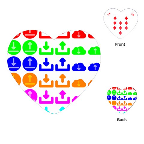 Download Upload Web Icon Internet Playing Cards (Heart)