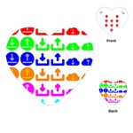 Download Upload Web Icon Internet Playing Cards (Heart)  Front