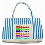Download Upload Web Icon Internet Striped Blue Tote Bag Front