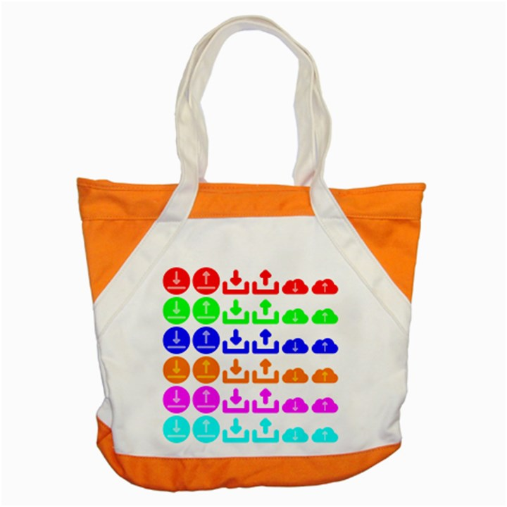 Download Upload Web Icon Internet Accent Tote Bag